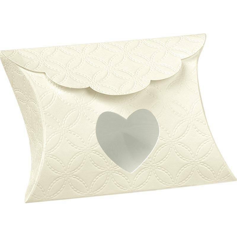 scotton spa scotton spa busta 80x85x30 mm con finestra a cuore - matelasse bianco