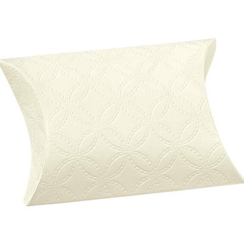 scotton spa busta porta confetti matelasse bianco 70x70x25 mm - 10 pz