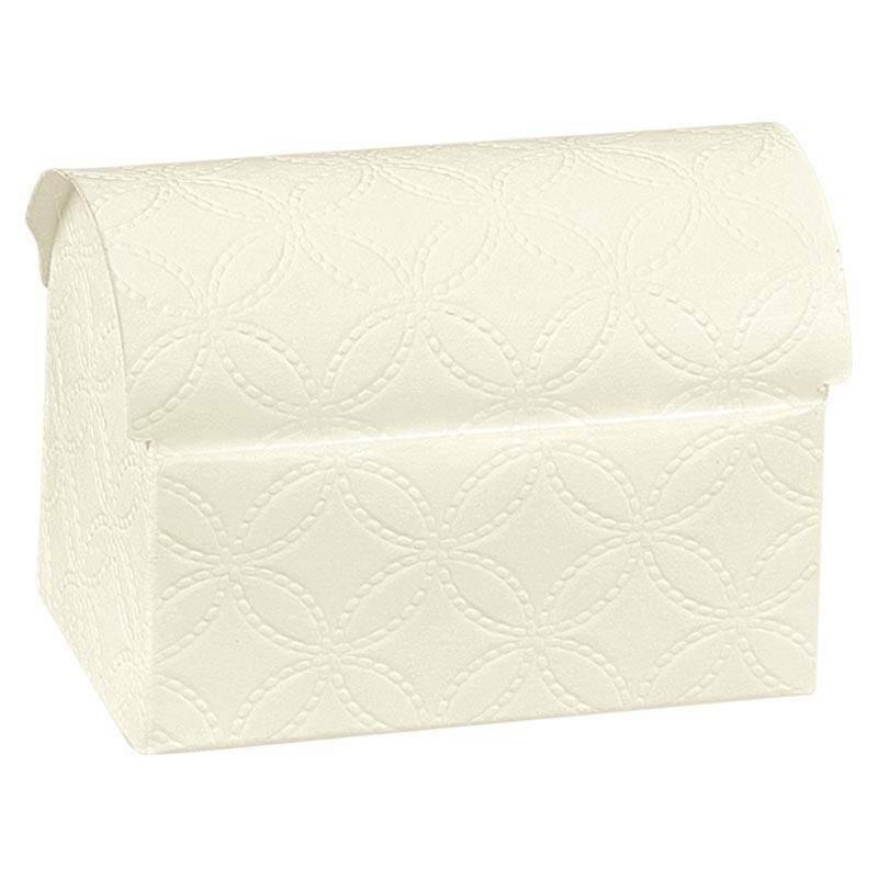 scotton spa cofanetto porta confetti matelasse bianco 70x45x52 mm - 10 pz