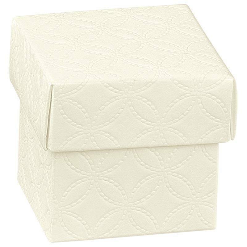 scotton spa scotton spa scatolina 50x50x50mm fondo e coperchio - matelasse bianco
