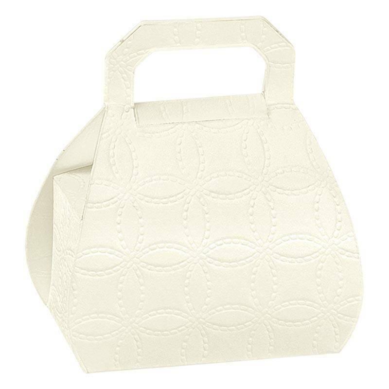 scotton spa borsa porta confetti matelasse bianco 80 mm - 10 pz