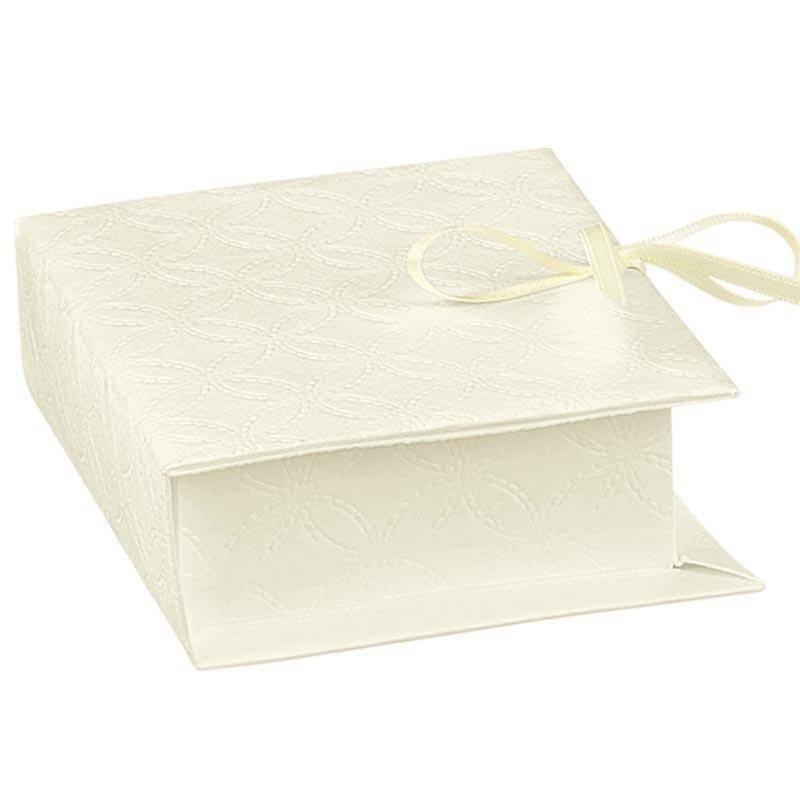 scotton spa libro porta confetti matelasse bianco 70x60x25 mm - 5 pz