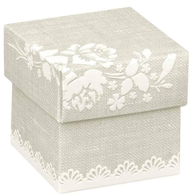 scotton spa scatolina porta confetti fondo e coperchio rose 50x50x50 mm - 10 pz