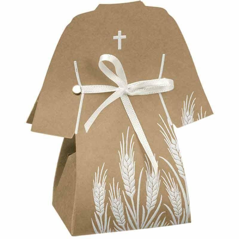 scotton spa scotton spa sacchetto 60x40x115 mm in cartoncino a forma di tunica - croce avana