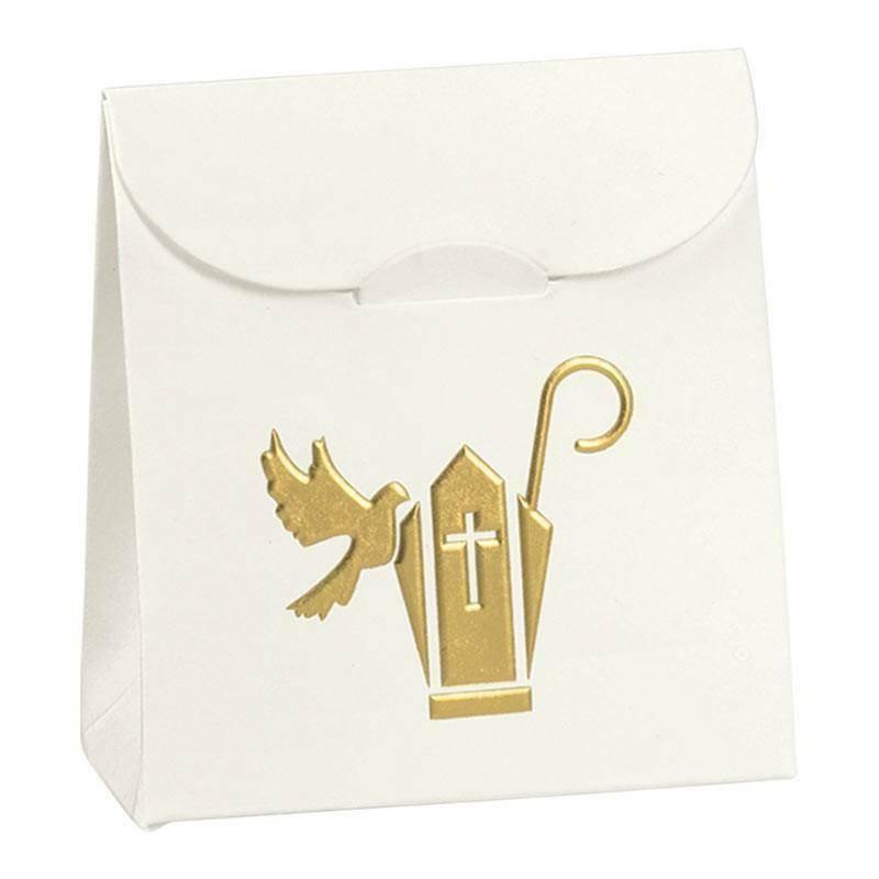 scotton spa sacchetto porta confetti con colomba 70x35x80 mm - 5 pz