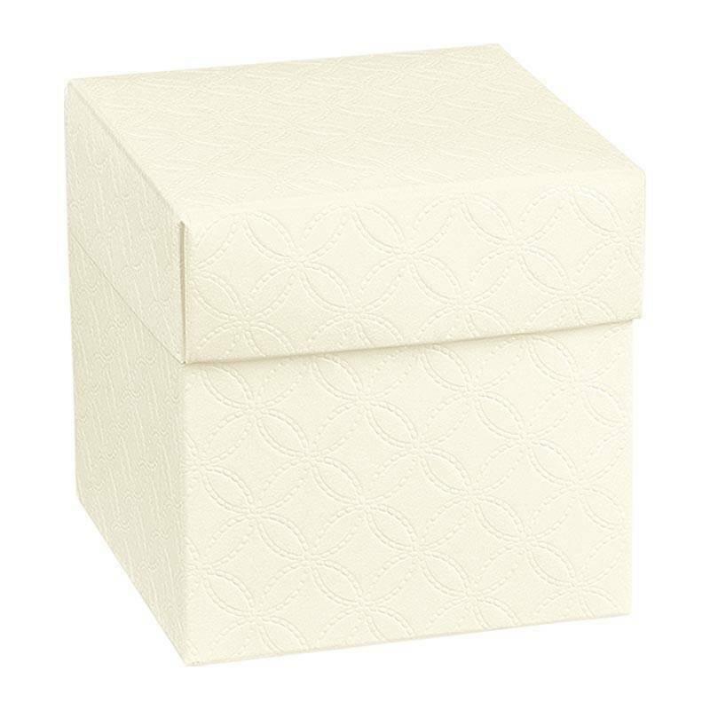 scotton spa scotton spa scatola pieghevole 80x80x90 mm matelasse bianco con coperchio