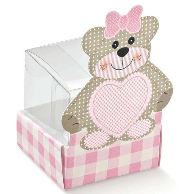 scotton spa scotton spa cestello con orsacchiotto - teddy bear rosa 40x40x65 mm + astuccio in pvc