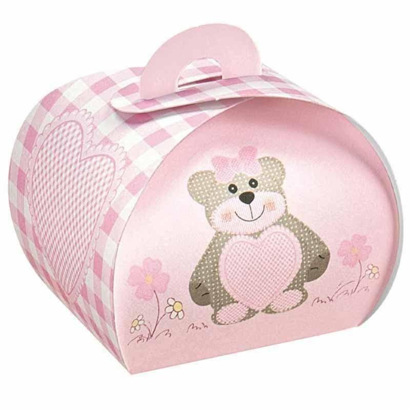 scotton spa scotton spa tortina 55x55x50 mm in cartoncino teddy bear rosa