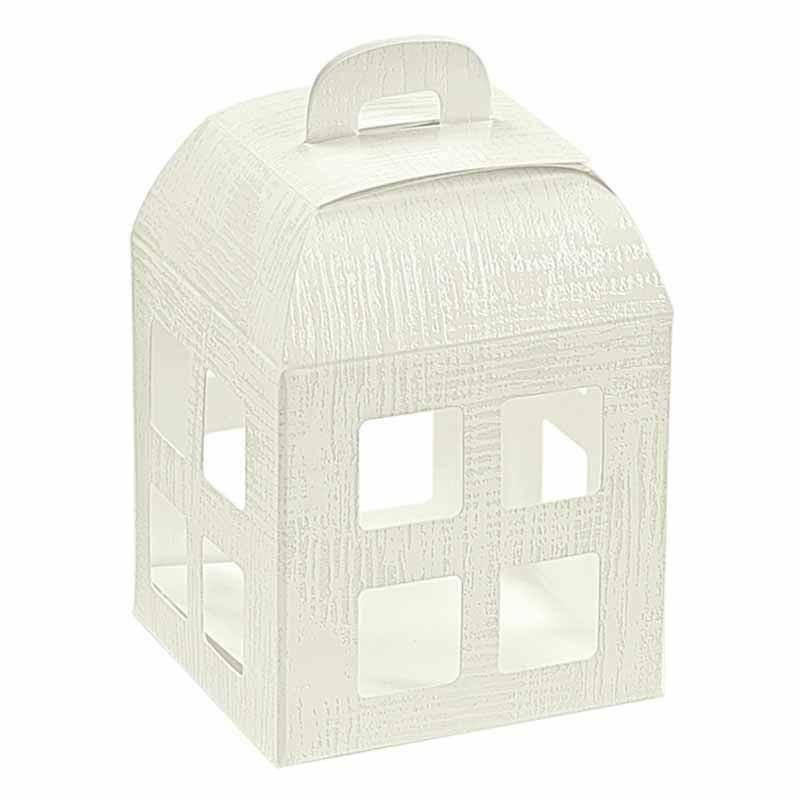 scotton spa scotton spa lanterna 55x55x60 mm con interno trasparente - tela bianco