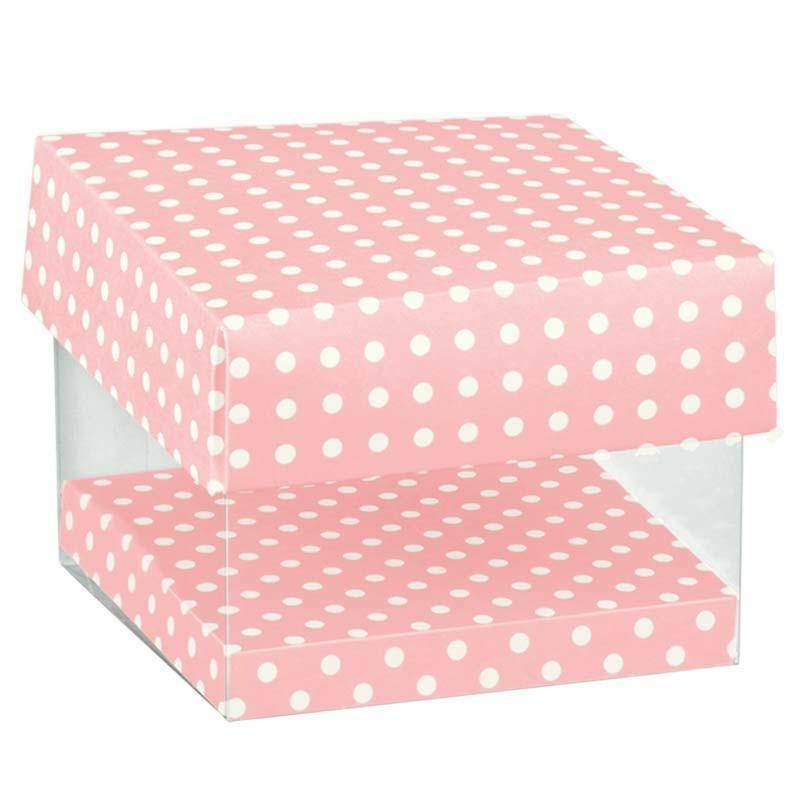 scotton spa scatola in pvc trasparente atelier rosa 80x80x90 mm - 4 pz