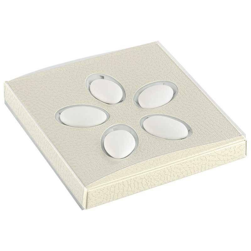 scotton spa astuccio porta confetti pelle bianco 105x100x15 mm - 5 pz