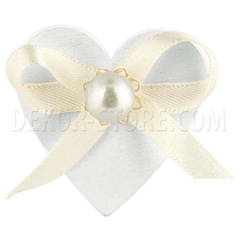 scotton spa scotton spa cuore bianco in legno con perla - 45 mm