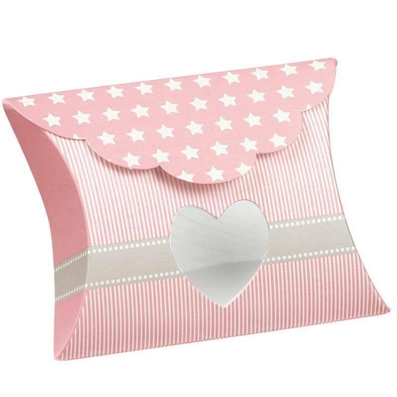 scotton spa busta con finestra a cuore star rosa 80x85x30 mm - 10 pz