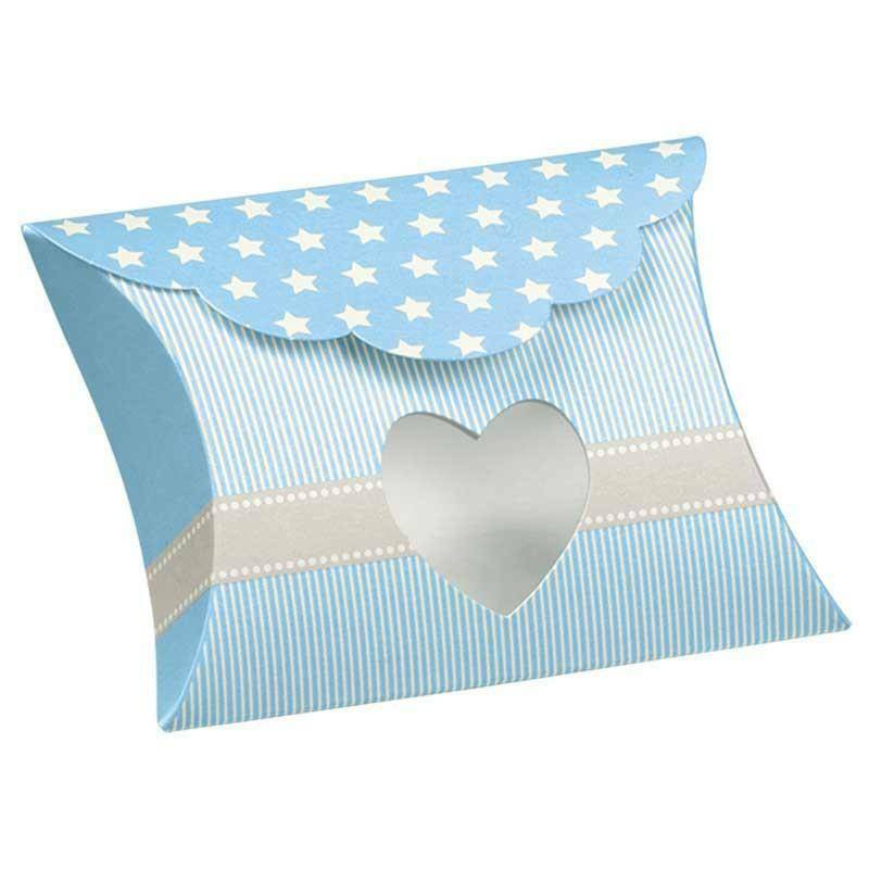 scotton spa scotton spa busta con finestra a cuore 80x85x30 mm - star azzurro