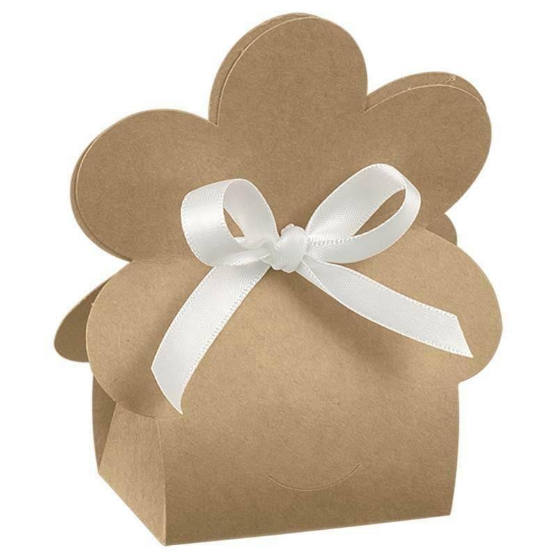 scotton spa scotton spa portaconfetti 60x40xh110 mm borsa in cartoncino a forma di fiore - avana