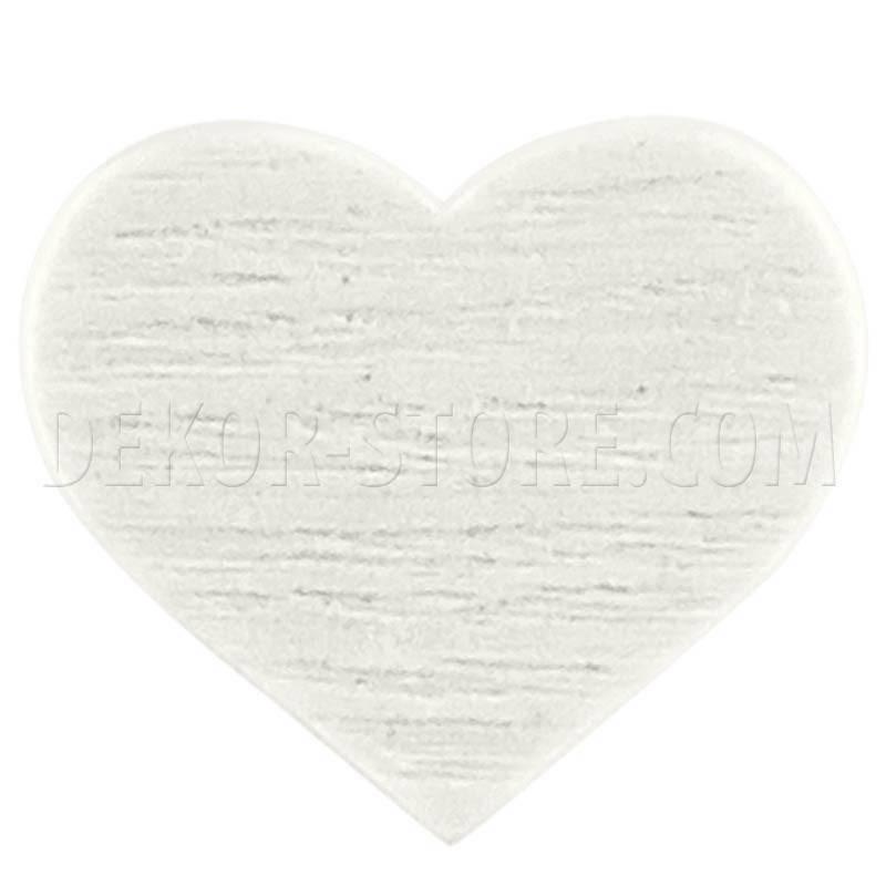 scotton spa scotton spa cuore bianco in legno - 28mm