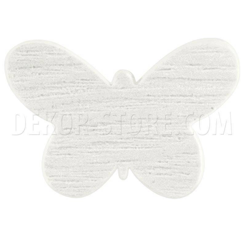 scotton spa scotton spa farfalla bianca in legno - 34 mm