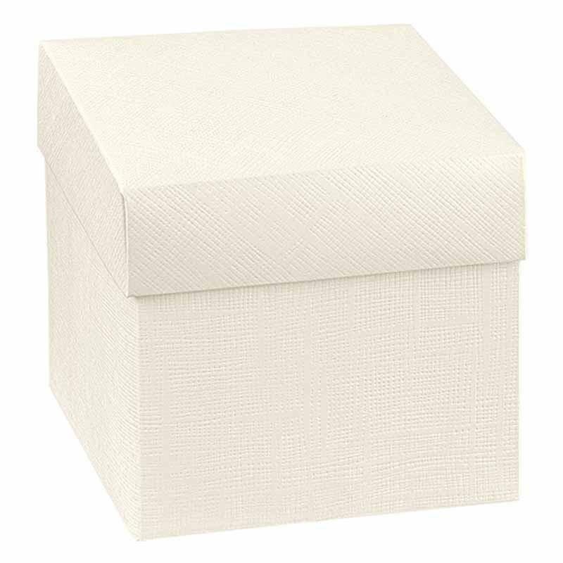 scotton spa scotton spa scatola fondo e coperchio 140x140x80 mm - seta bianco