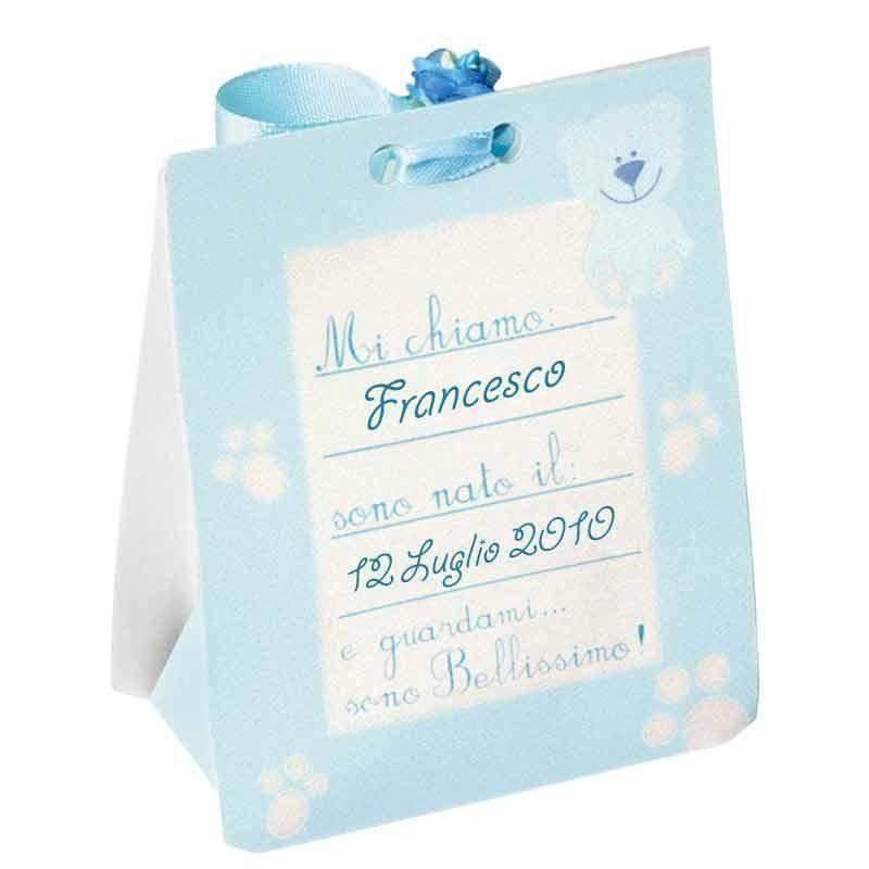 scotton spa scotton spa scatola 65x40xh95 mm cartoncino azzurro cornicetta - baby boy