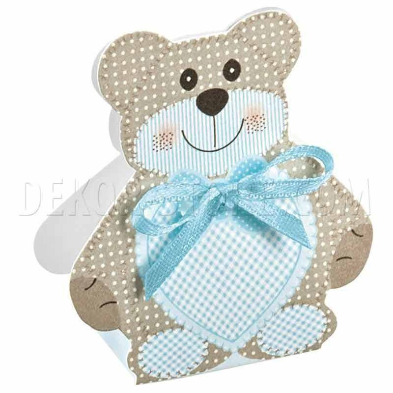 scotton spa scotton spa scatola 35x25x60mm a forma di orsacchiotto - teddy bear azzurro