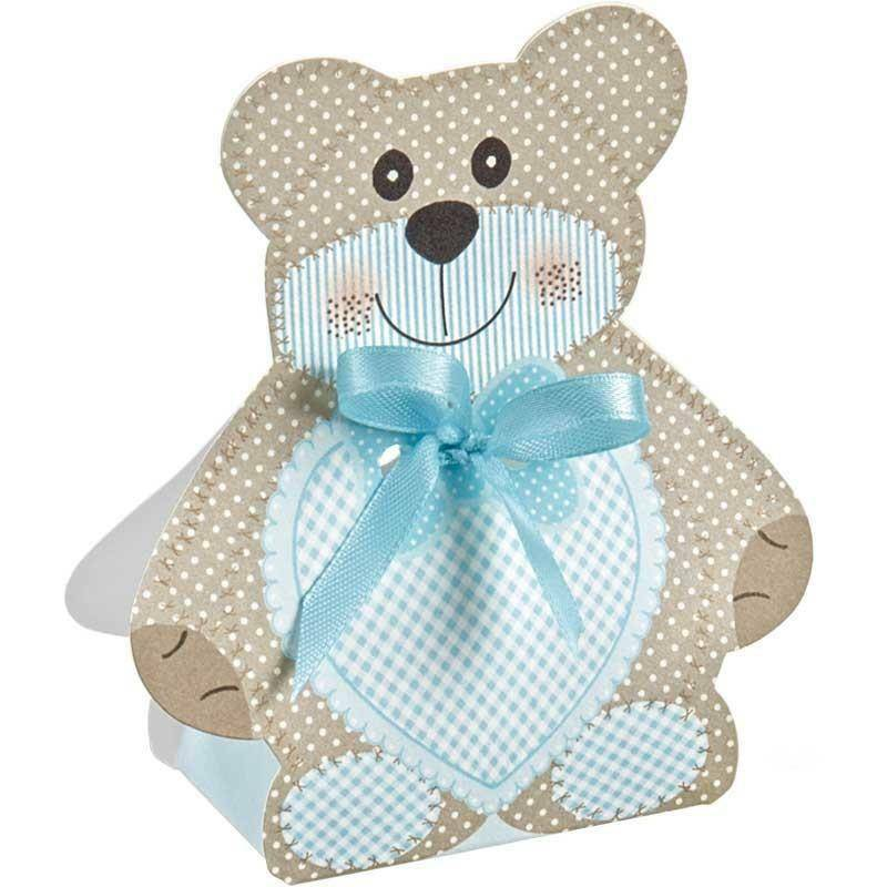 scotton spa scotton spa scatola 60x40xh120 mm a forma di orsacchiotto - teddy bear azzurro