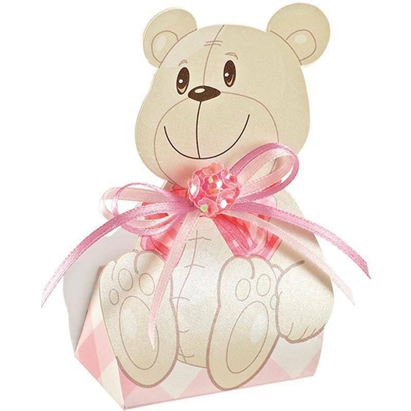 scotton spa scotton spa scatola 60x40x110 mm a forma di orsacchiotta - orsetto rosa