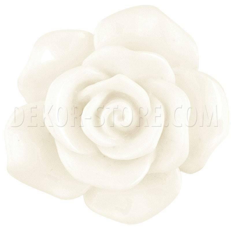 scotton spa scotton spa rosa bianca in resina - 22 mm