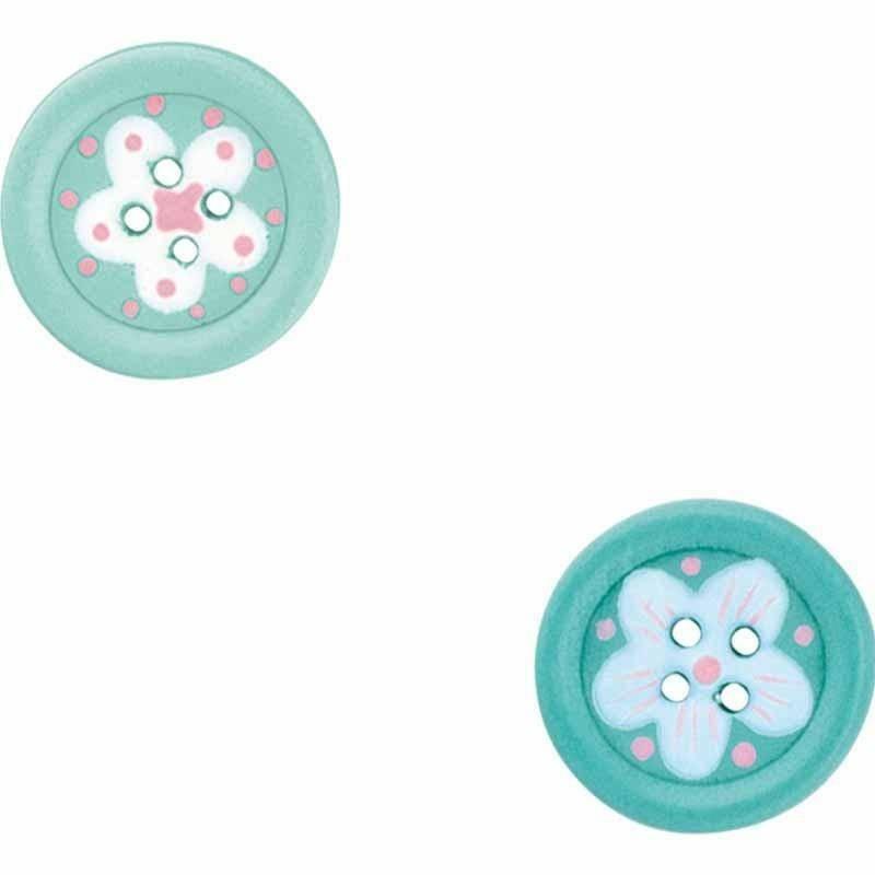 scotton spa scotton spa bottoni verde acqua con adesivo 20 mm - 24 pz