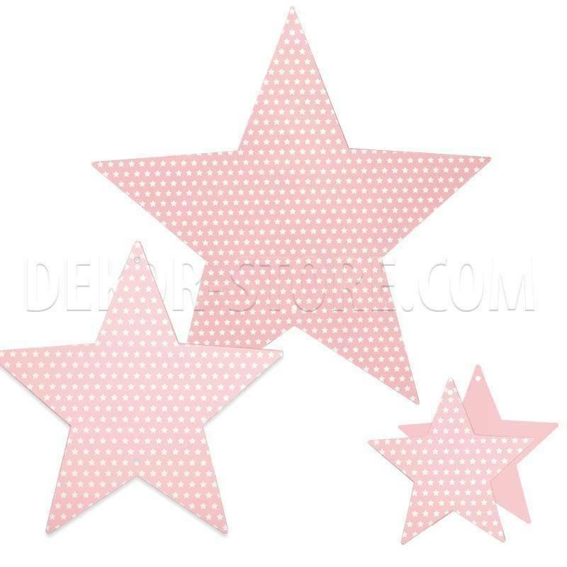 scotton spa scotton spa stella set 3 pz - 450x450 - 300x300 - 180x180 mm cartoncino color rosa