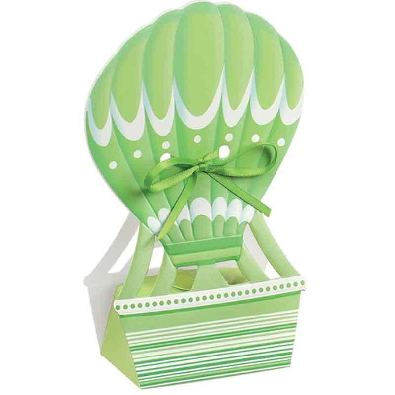 scotton spa mongolfiera porta confetti verde 60x40x145 mm - 5 pz
