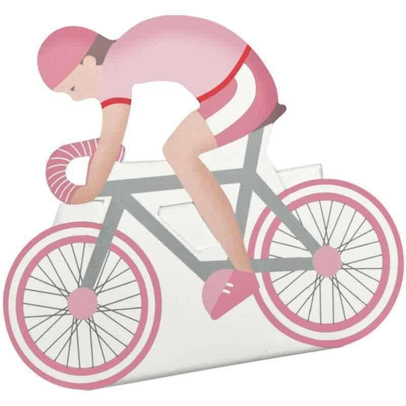 scotton spa bicicletta porta confetti rosa 60x35x85 mm - 5 pz
