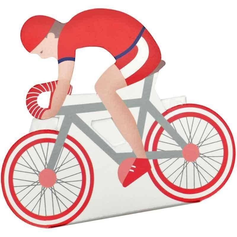 scotton spa scotton spa scatola 60x35x85 mm in cartoncino a forma di bicicletta festa