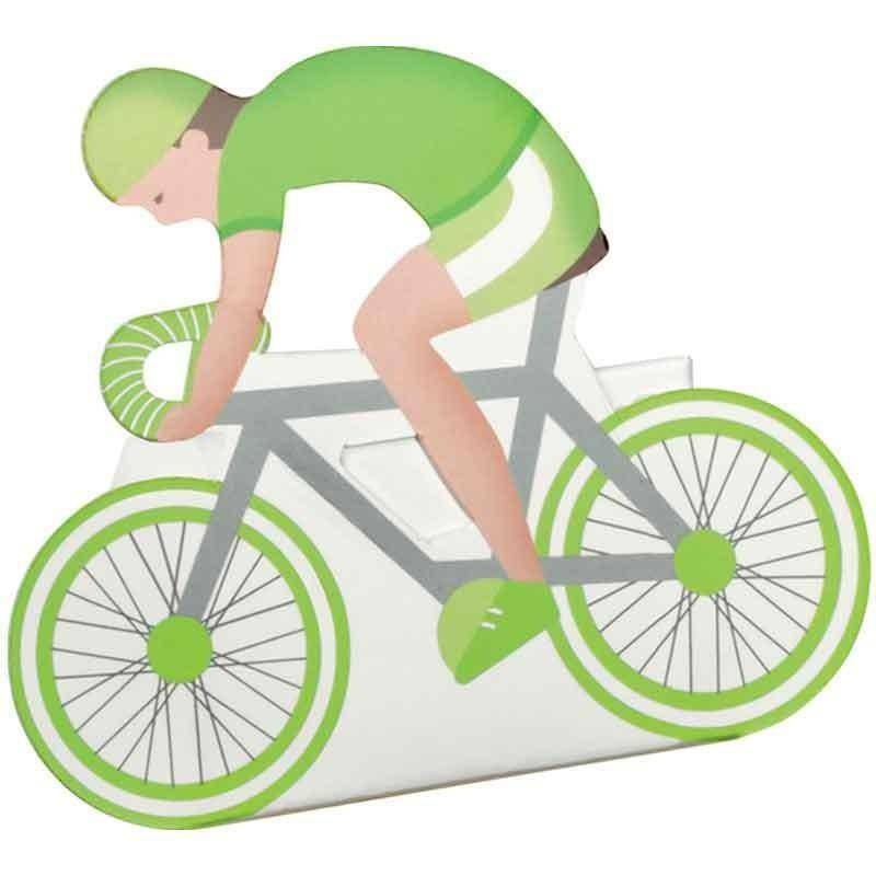scotton spa bicicletta porta confetti verde  60x35x85 mm - 5 pz