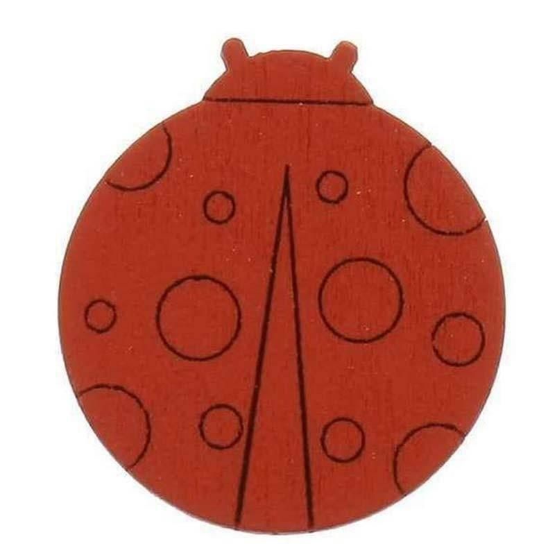 sud time sud time coccinella in legno rosso - 2,5 x 3,5 cm