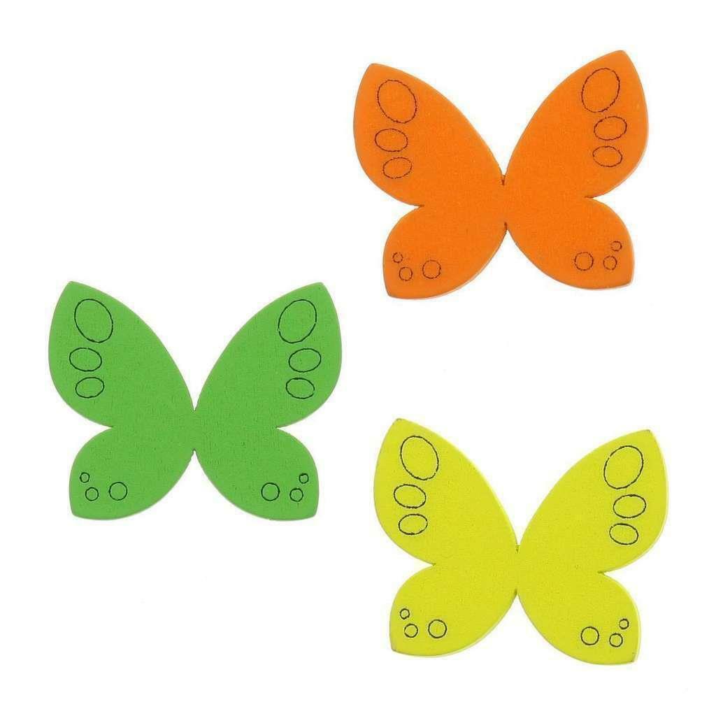 sud time sud time farfalla in legno colori assortiti - 3.8 x 3 cm