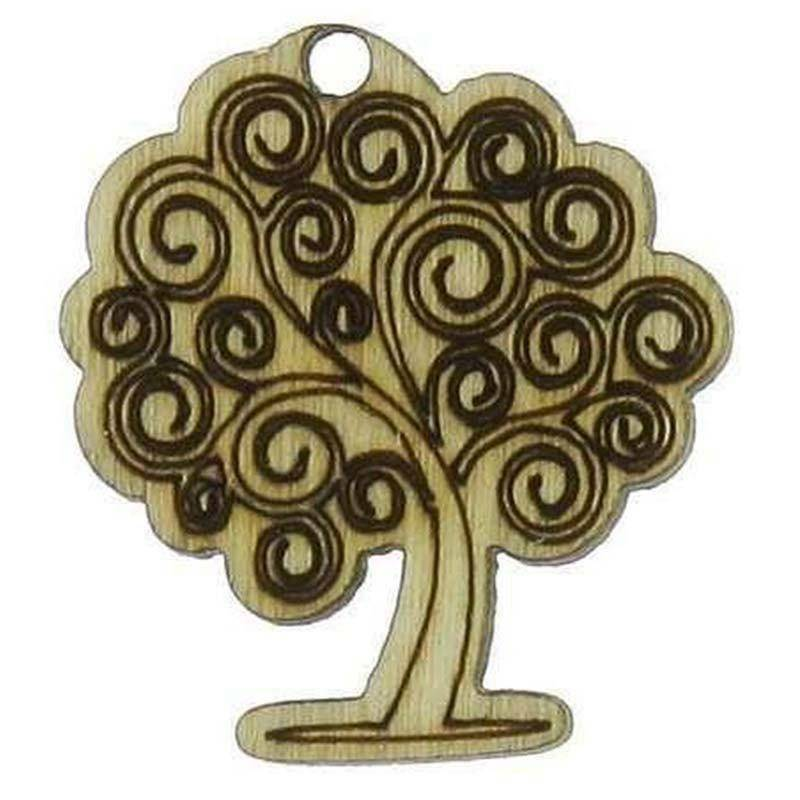 sud time sud time albero della vita in legno naturale - 2,5 x 2,5 cm