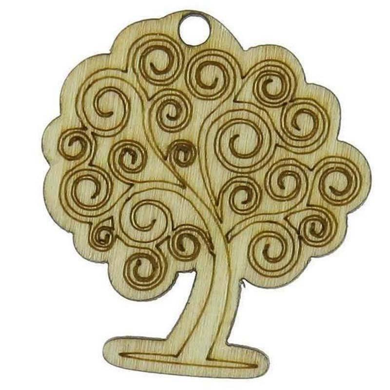 sud time albero della vita sud time albero della vita in legno naturale - 3,5 x 3,5 cm3,5x3,5cm applicazione in legno colore naturale