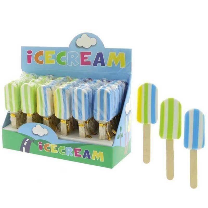 gomma per cancellare a forma di gelato 10 cm colori assortiti boy