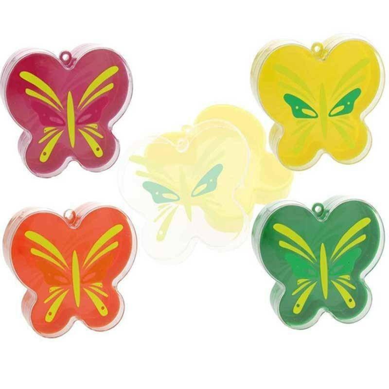 portaconfetti farfalla plexiglass 9,5x8,5 cm colori assortiti