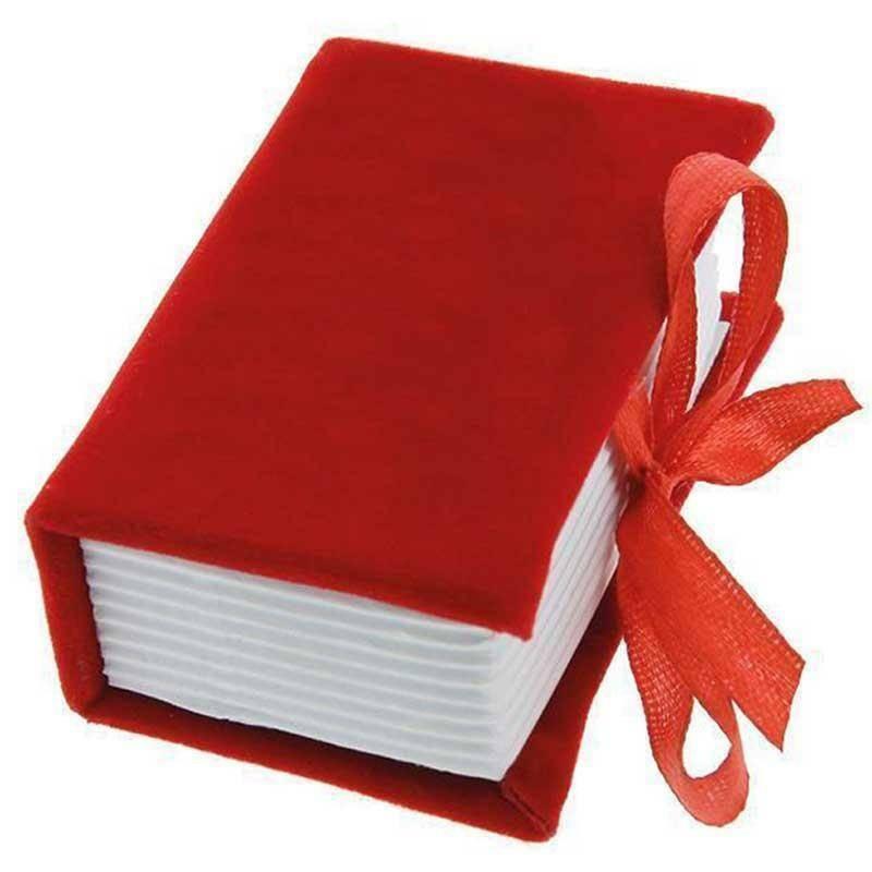 portaconfetti 4,5x6,5 cm libro laurea alcantara - rosso