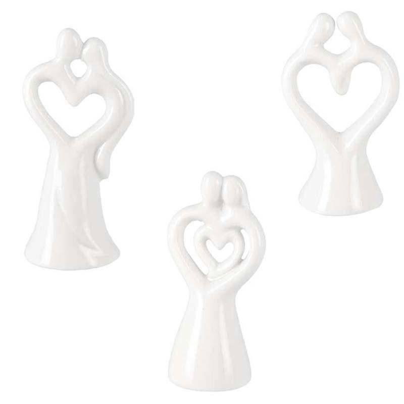 applicazioni 3,5x7 cm coppia sposi ass. in porcellana bianco