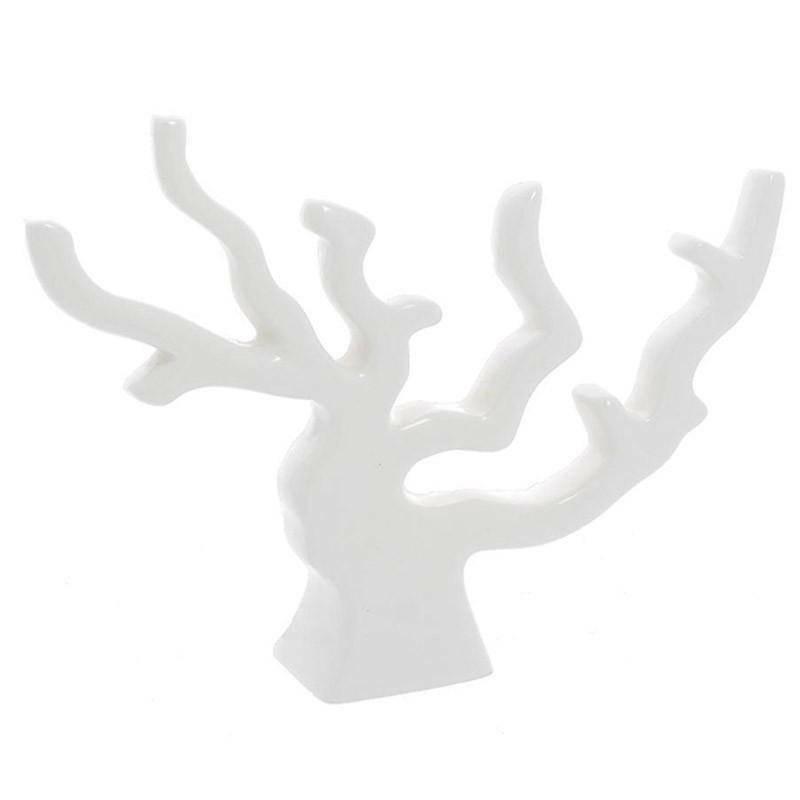 corallo grande 22x16 cm in porcellana bianca