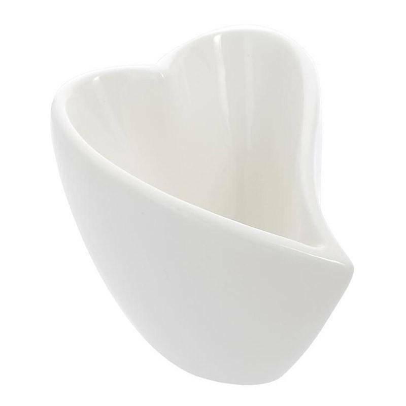 sud time svuota tasche cuore piccolo in porcellana bianca - 15 x 12 cm