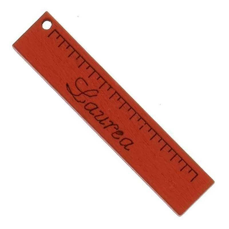 sud time sud time righello piccolo in legno rosso - 1 x 5 cm