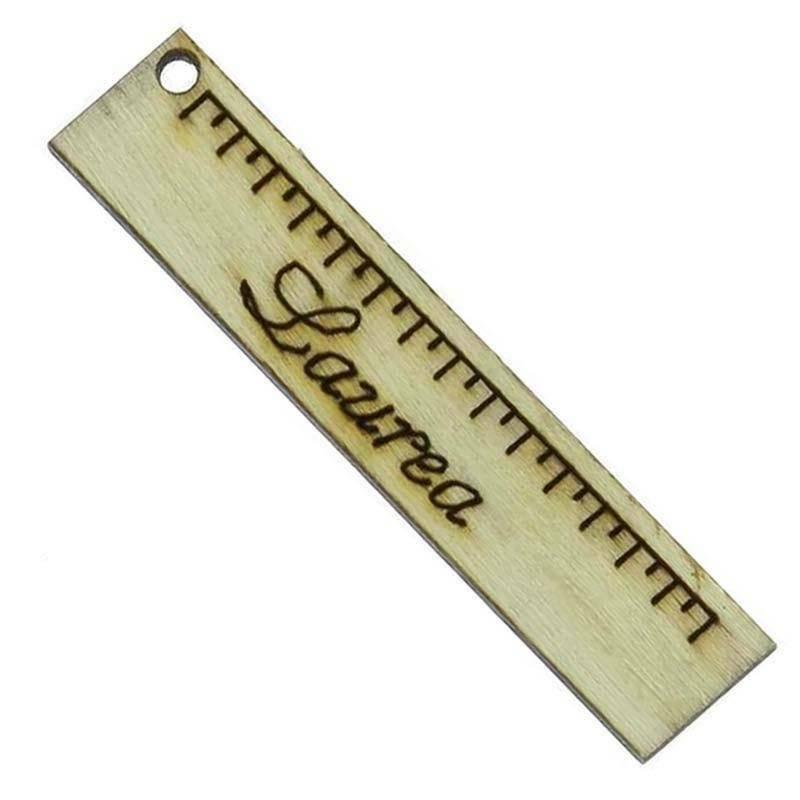 sud time sud time righello piccolo in legno naturale - 1 x 5 cm