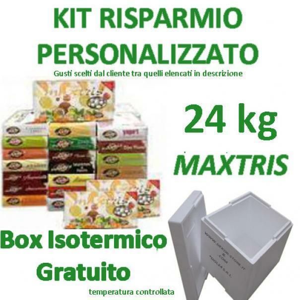 maxtris kit risparmio confetti maxtris 24 kg gusti personalizzati - per 200/260 invitati