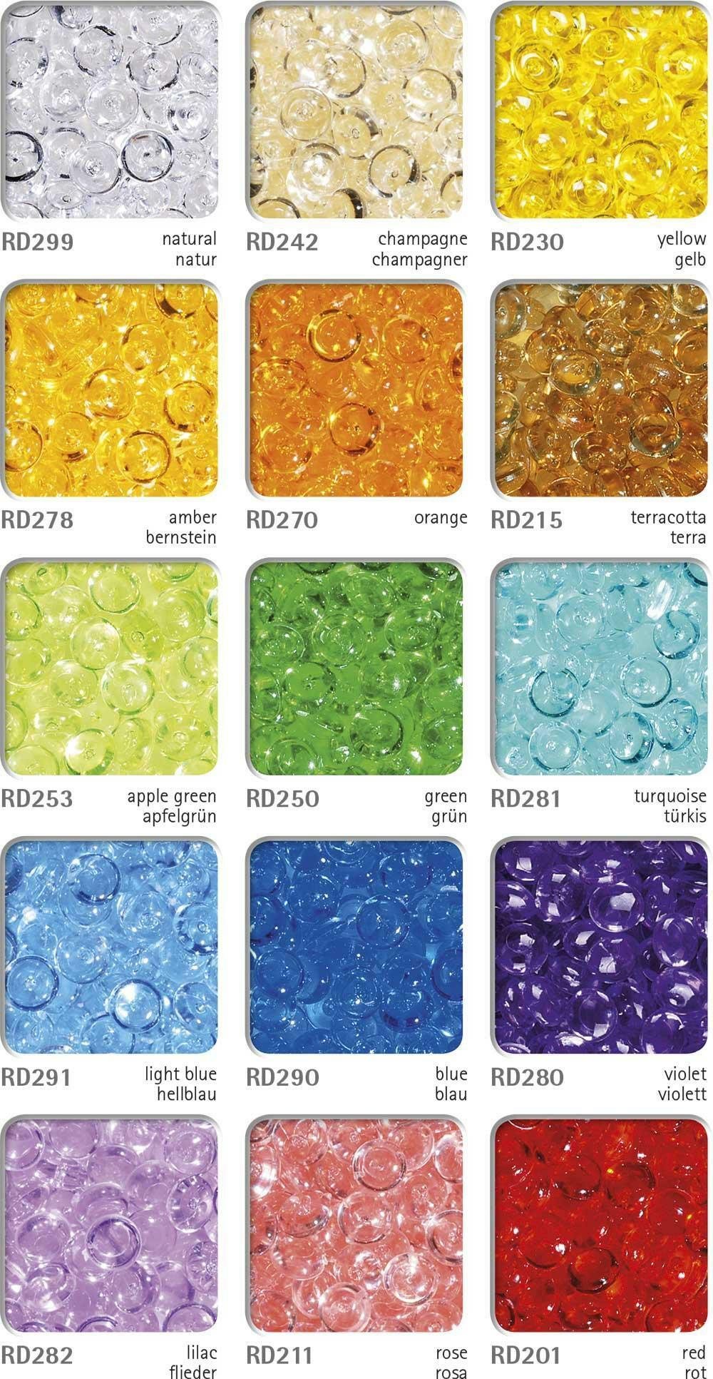 eurosand gocce di pioggia 2-4 mm in pvc trasparente - 333 ml