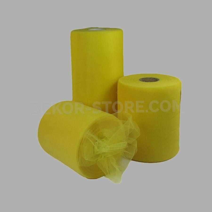rgb tulle giallo - 25 cm x 100 mt