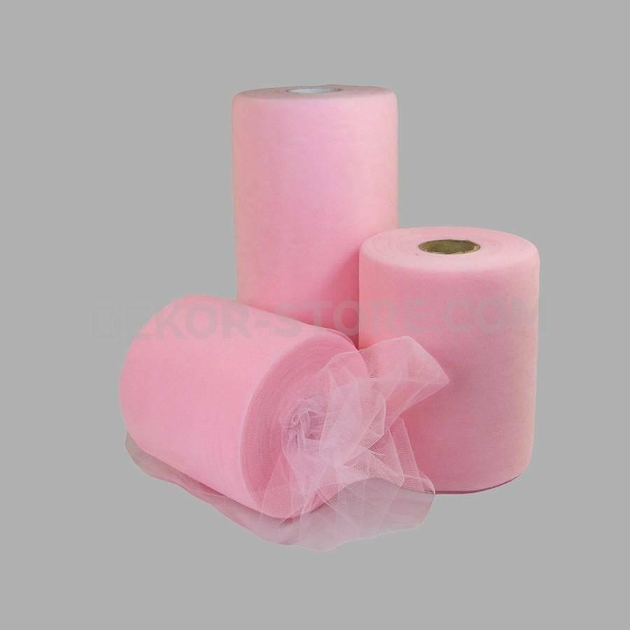 rgb tulle rosa - 25 cm x 100 mt