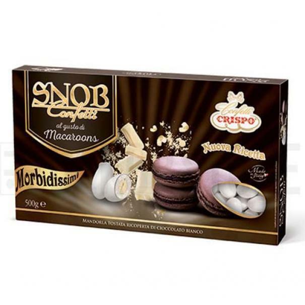 crispo confetti crispo macaroons al cioccolato - snob 500 gr